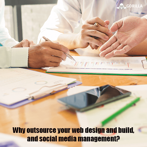 Why outsource your web design and build, and social media management?